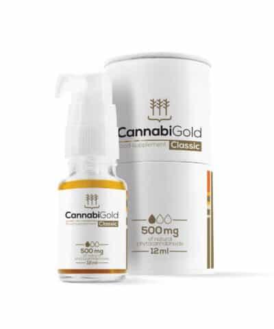 huile chanvre CBD cannabigold 500mg