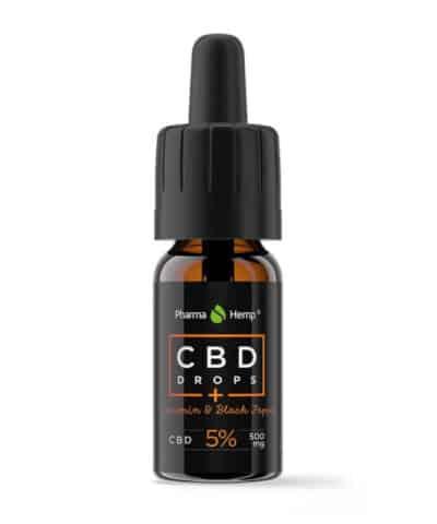 Huile CBD Black Premium 5% PharmaHemp Black Pepper Curcumine