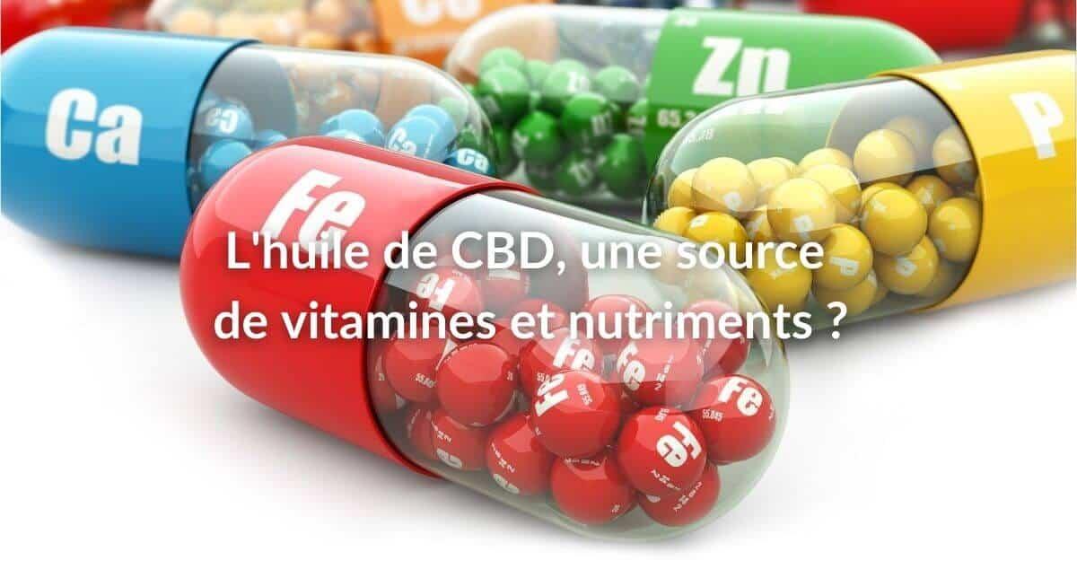 CBD quelles vitamines