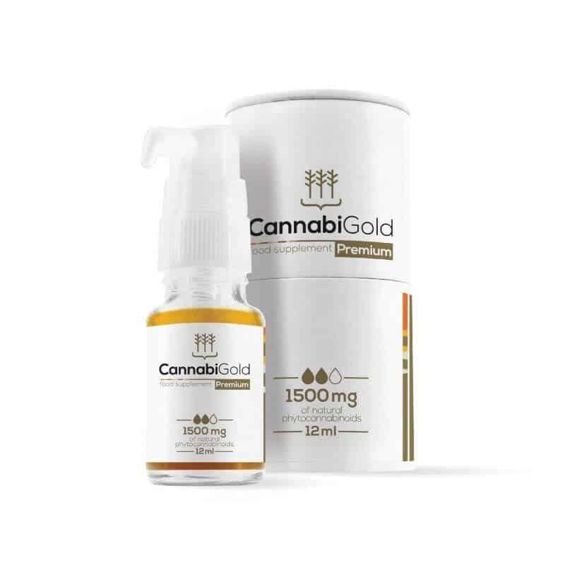 Flacon et coffret huile CBD cannabigold 1500mg