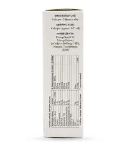 Huile CBD Enecta ingredients