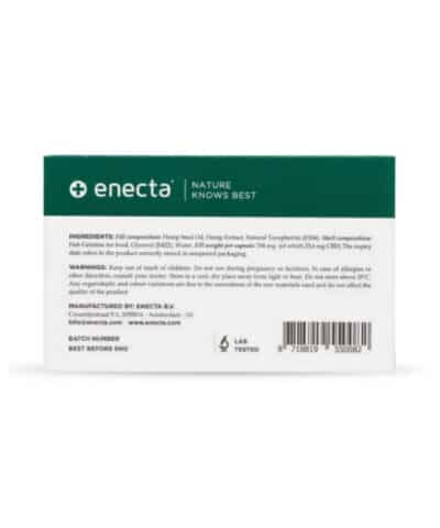 capsules CBD Enecta composition